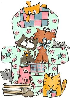 @carperezcalvo | The Furry Aspect ~ dogs, cats & other interesting creatures | Pinterest | Cats, Chairs and Cartoon Cats