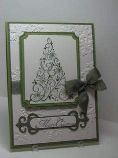 Snow Swirled Merry Christmas by bwstamper - Cards and Paper Crafts at Splitcoaststampers