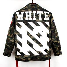 OFF-WHITE C/O VIRGIL ABLOH FIELD JACKET (CAMOUFLAGE) camo military jacket in Clothing, Shoes & Accessories, Men's Clothing, Coats & Jackets   eBay