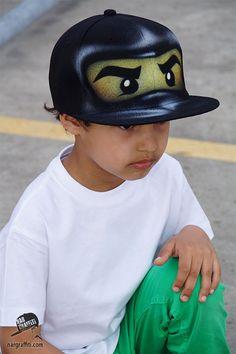 Black NINJA Snapback hat | Cole Baseball Cap | Flat peak | Black ninjago, Personalized, custom named, airbrushed ninja gift for boy and girl