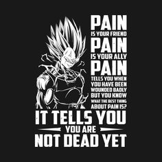Awesome 'Super+saiyan+majin+vegeta+pain+shirt' design on TeePublic!