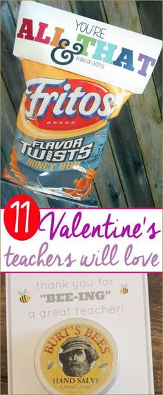 11 Valentines Teachers will Love.  Special Valentine's for Teachers that they'll actually like.