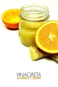 LAS SALSAS DE LA VIDA: Vinagreta de naranja y jengibre