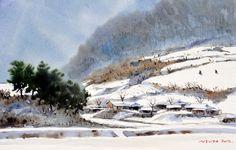 겨울 이야기 53.0 x 40.9cm watercolor dn ppaper watercolor by Jung in sung