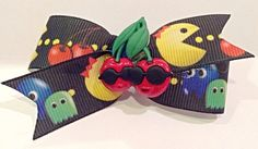 Ms PacMan hair bow PacMan Dog bow dog hair bows dog by CreateAlley