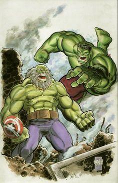 #Hulk #Fan #Art. (Maestro vs Hulk) By: Francesco Francavill. (THE * 5 * STÅR * ÅWARD * OF: * AW YEAH, IT'S MAJOR ÅWESOMENESS!!!™).......