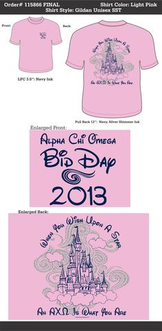 LOVE this! Want it and need it!      Alpha Chi Omega Bid Day  http://www.greekt-shirtsthatrock.com/      OMG PLEASE  Different colors but this shirt...