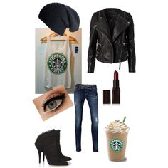 """Starbucks!!!"" by clairebear95 on Polyvore"