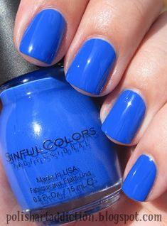Polish Art Addiction: Sinful Colors - Endless Blue