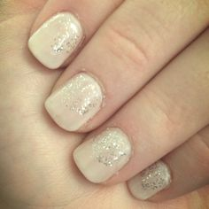 Prom nails. I like this, but except I would do a red polish. :)