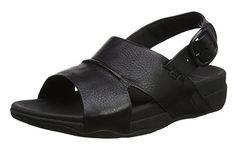 #FitFlop Fitness Schuhe Sandale - Herrensandale Bando mit Fersenriemen, schwarz. Clogs, Leather Sandals, Men's Sandals, Fitflop, Birkenstock Milano, Open Toe, Sneaker, Shoe Bag, Amazon