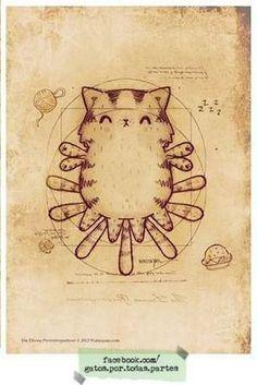 Age of cst - Katzen - Cat Drawing Crazy Cat Lady, Crazy Cats, I Love Cats, Cute Cats, Illustrations, Illustration Art, All About Cats, Cat Drawing, Cat Art