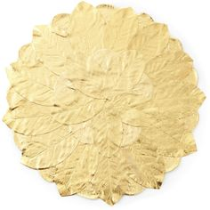 Deborah Rhodes Gilded Magnolia Leaf Placemat (2,230 MXN) ❤ liked on Polyvore featuring home, kitchen & dining, table linens, gold, handmade placemats, deborah rhodes placemats, leaf placemats and deborah rhodes