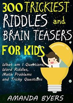 Kids love to test riddles on their family and friends. Here are 101 funny riddles for kids with answers for your kids. These good riddles can be fun while Kids Jokes And Riddles, Word Riddles, Brain Teasers Riddles, Tricky Riddles, Brain Teasers For Kids, Funny Riddles, Funny Jokes For Kids, Fun Jokes, Riddles With Answers