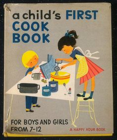 A Child's First Cookbook  1950s vintage cookbook by SkippiDiddle, $12.00