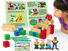 The Three Little Pigs Problem Solving STEM Kit at Lakeshore Learning