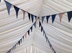 Bunting in nude / white / green / blue ??? to match wedding colours