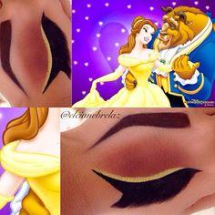 croqui-maquiagem-princesa- Bella