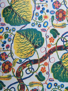 josef frank.. a wonderful leaf print and colour combinations