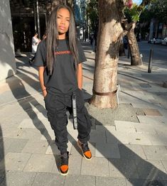 tomboy outfits black girl \ tomboy outfits + tomboy outfits black girl + tomboy outfits cute + tomboy outfits summer + tomboy outfits for school + tomboy outfits swag + tomboy outfits casual + tomboy outfits black girl summer Komplette Outfits, Chill Outfits, Cute Casual Outfits, Dope Outfits, Retro Outfits, Fashion Outfits, Summer Tomboy Outfits, Outfits With Jordans, Black Girls Outfits