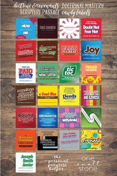 Candy Puns, Candy Labels, Scripture Study, Scripture Quotes, Scripture Treats, Teacher Appreciation Week, Teacher Gifts, Staff Gifts, Employee Appreciation