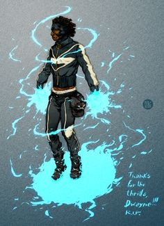 superheroesincolor:  Static by Ricardo Venâncio // Milestone Comics, DC Comics  Artist blog / deviantart