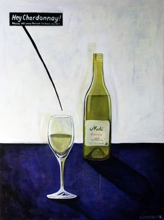 Hey Chardonnay  60cm x 80cm  Acrylic on canvas