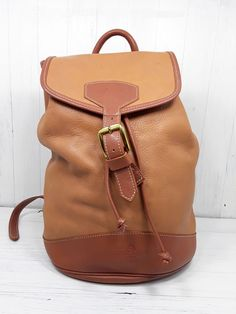 3b0558db7b1 McGUIRE NICHOLAS Tan Leather Backpack Convertible Sling Bag   McGuireNicholas  Backpack