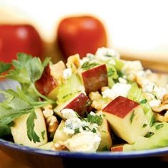 Apple and Walnut Salad With Blue Cheese Dressing