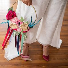 Bride of Ollichon, Heather, opted for a bridal jumpsuit with detachable bridal o… – Alternative Weddings Dresses Wedding Flower Alternatives, Alternative Wedding Dresses, Playsuits, Jumpsuits, Bridal Jumpsuit, Bridal Separates, Floral Hoops, Brides And Bridesmaids, Bridal Collection