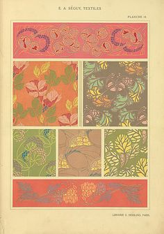 Gorgeous textile pages/designs -free to print - NYPL Gallery - lots of designs so could put together nice gallery wall