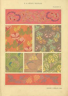Textiles par E. A. Séguy : 20 planches.