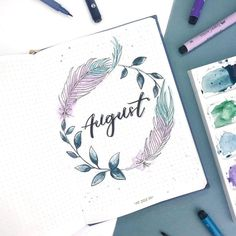 august bullet journal I am fairly late to the August party, but, I hate to leave you hanging. So, here are 22 hello August bullet journal layouts ideas! Bullet Journal August, Bullet Journal Cover Ideas, Bullet Journal Notebook, Bullet Journal School, Bullet Journal Themes, Bullet Journal Layout, Bullet Journal Inspiration, August Kalender, Kalender Design