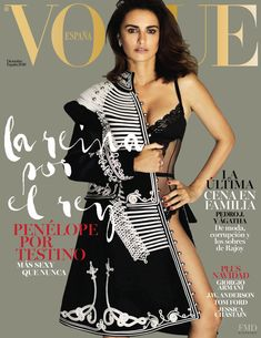 Penelope Cruz featured on the Vogue Spain cover from December 2016