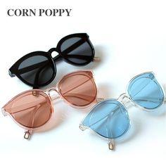 555beb2cf4d Corn Poppy The Legend Of The Sea Blue Han Edition Women Big Retro Vintage  Fashion Sunglasses