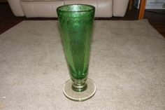 """$35. Mar.2016. 15"""" vase with round, clear base."""