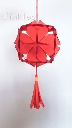 DIY Hope Red Lantern Decoration - Hang the lantern and drive away the coronavirus. Use red paper to make the lantern decoration, hang - Cool Paper Crafts, Paper Flowers Craft, Paper Crafts Origami, Flower Crafts, Diy Paper, Origami Flowers, Fun Crafts, Diy Crafts Hacks, Diy Crafts For Gifts