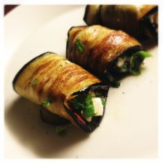 Grilled Aubergine Roll