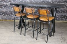 This leather bar stool is new to our wide range of bar and restaurant furniture. The stool features a tubular steel framework and aged studs to the back...