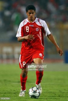 Heiarii Tavana of Tahiti in action during the Group B FIFA U20 World Cup match between Tahiti and Nigeria at the Cairo International Stadium on...