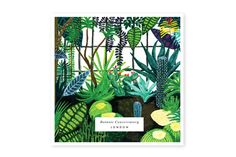 BOTANIC greeting card, london - www.allthewaystos... - Illustrated cards, notebooks, Calendar & notepads