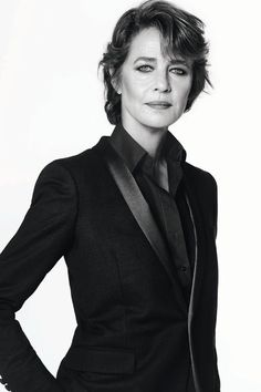 68-Year-Old Charlotte Rampling Smolders in New NARS Ad. Rampling wears a chic, androgynous suit and smoldering kohl eyeliner.