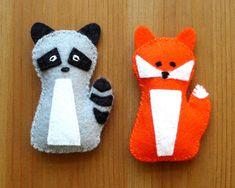 Fox & Raccoon Pillow Toy Pattern PDF Sewing by MyFunnyBuddy