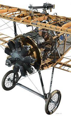 Nieuport 17 Cutaway (800×1307)