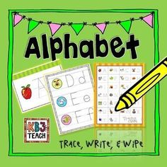 Teach letter/sound correspondence with these tracing worksheets, alphabet charts, and letter cards.  Print for student homework, or laminate for multiple use during centers activities.