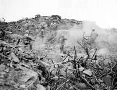 MAR  3 1945 Five Medals of Honor on Iwo Jima  Marines mopping up cave with grenades and BARs.