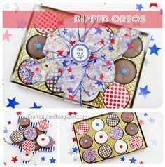 Craftibilities: Patriotic DIPPED OREOS - Tutorial - 4th of July theme