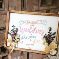 【結婚式DIY】大流行!刺繍のウェルカムボードデザイン集 | marry[マリー]