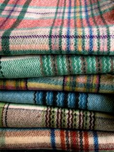 pile of Wool blankets a must for park city trip along with my sorels