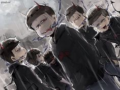 デビル松 Otaku, Anime Siblings, Osomatsu San Doujinshi, Makes Me Wonder, Goth Aesthetic, Ichimatsu, Hot Anime Guys, Emo Goth, My Favorite Image